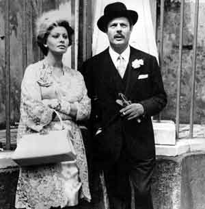 Sofia Loren and Marcello Mastroianni