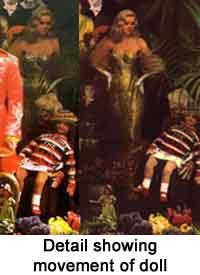Detail showing movement of doll during Sgt Pepper album cover shoot.