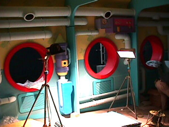 Construction of the ride in Tokyo - portholes