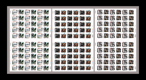 Beatles Stamps - Full Sheet of Each - 1st day of issue